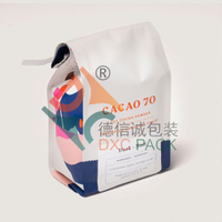 Custom Printed Innovative Foil Side Gusset Tin Tie Coffee Bags