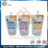Honey food liquid packing spout pouch