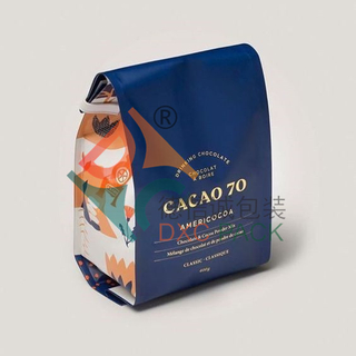 Custom Printed Foil Quad Seal Tin Tie Coffee Bags