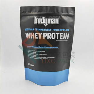 Matte Finish 3kg Protein Stand Up Poches with Zipper