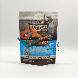 Custom Printed Stand Up Resealable Dog Food Bag with Window