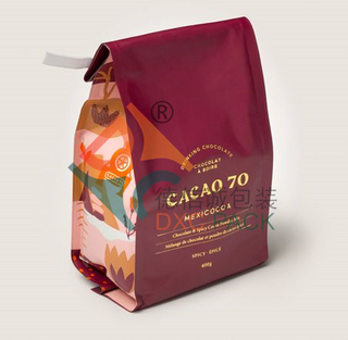 Innovative Custom Printed Foil Quad Seal Coffee Packaging Bags with Tin Tie