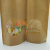 Stand up Zipper Pouch with Oval Window for Food Packaging