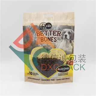 Innovative Stand Up Zipper Resealable Dog Food Bag with Window