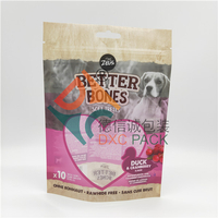 Custom Printed Stand Up Eco Friendly Pet Food Packaging Bags with Window