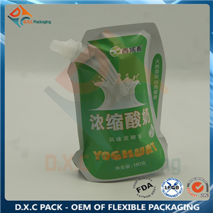 Aluminum Foil Shaped Spout Pouch for Yogurt Liquid Packaging