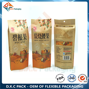 Kraft Paper Side Gusset Pouch For Nut Packaging
