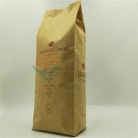 High Barrier Center Seal Kraft Coffee Bags with Valve