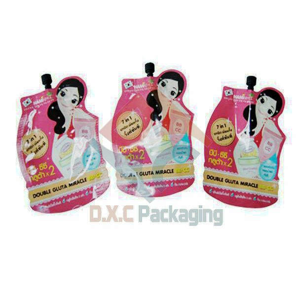 Aluminum Foil Bags with Spout for Sunscreen Lotion Packaging