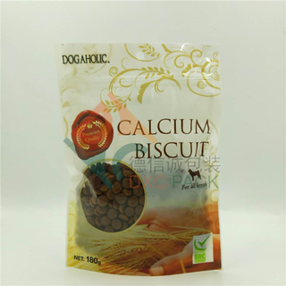 Custom Printing Oxygen Barrier Stand Up Ziplock Bags with Round Window for Pet Food