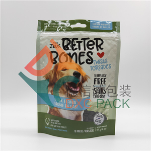 Custom Printed Stand Up Dog Food Pouches with Zipper