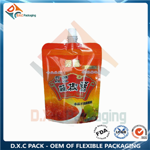 Sauce food liquid packing spout pouch