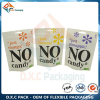 White Kraft Paper Zipper Stand Up Pouches with Custom Window for Sanck Food Packaging
