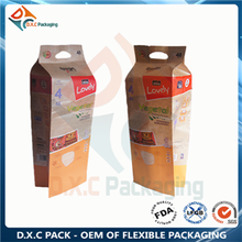 High volume kraft paper side gusset pouch with hang hole for diapers packaging