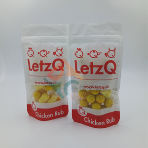 Custom Printed Clear Window Zip Lock Stand Up Pouches for Snack Food Packaging