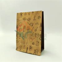 Custom Print Kraft Paper Flat Bottom Biodegradable Bags