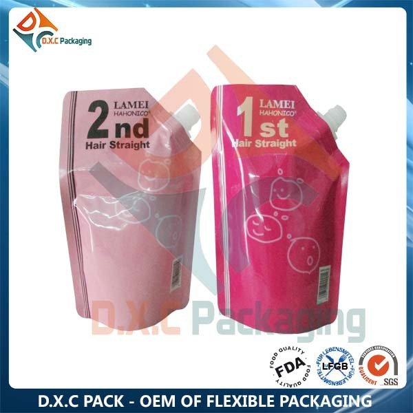 250ml Foil Stand Up Pouch with Spout Used in Shampoo Packaging