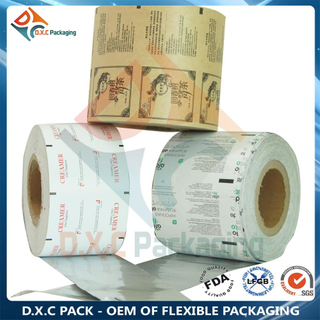 Custom Design Plastic Laminated Kraft Paper Roll Film