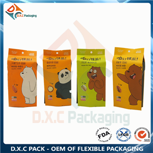 Kraft Paper Side Gusset Pouch For Nut Pack with Excellent Printing Effect