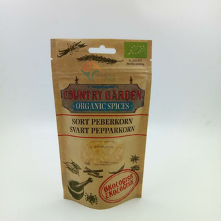 Kraft Paper Zipper Stand up Pouches with Clear Window for Snack Food Packaging
