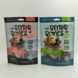 Printing High Oxygen Barrier Jerky Dog Food Stand Up Pouch with Zipper