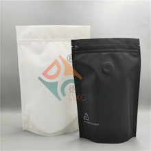 Printing Stand Up Recyclable Pouch With Valve for Coffee Packaging in Stock