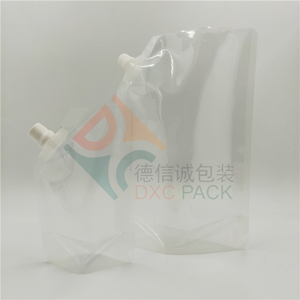 Clear Stand Up Pouch with Corner-mounted Spout
